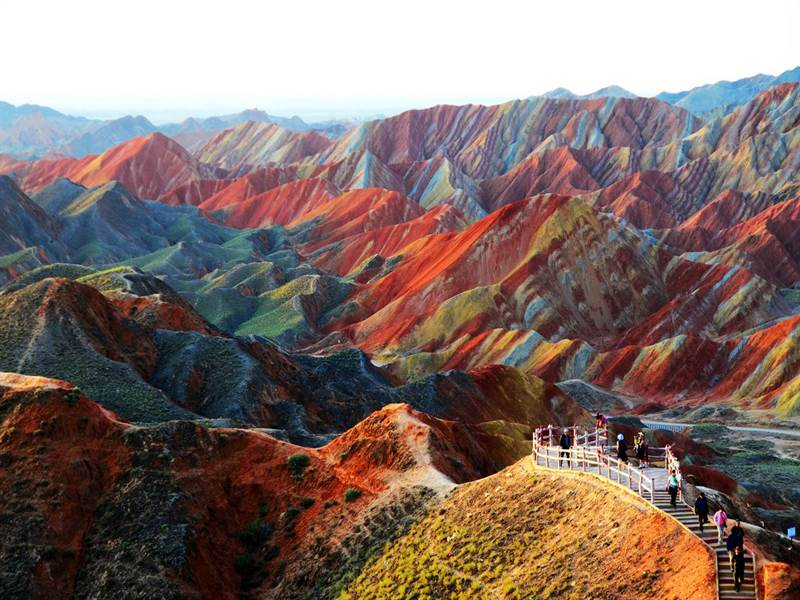 Zhangye Danxia landform: Gansu, China