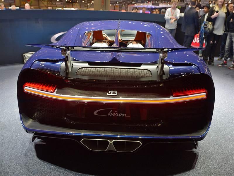 Bugatti Chiron Rear View Image