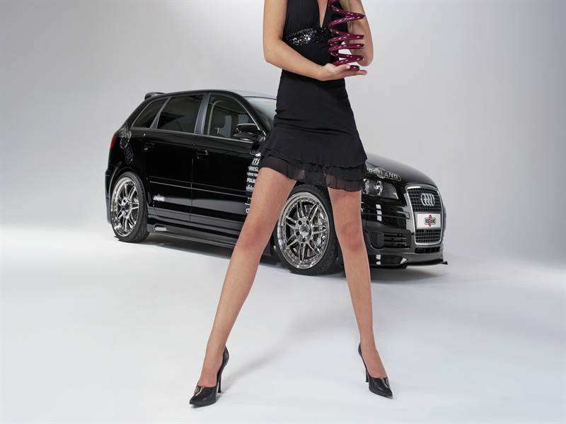 Black Car with Hot Babe