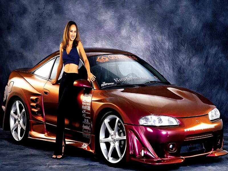 Exotic Car with Hot Model picture