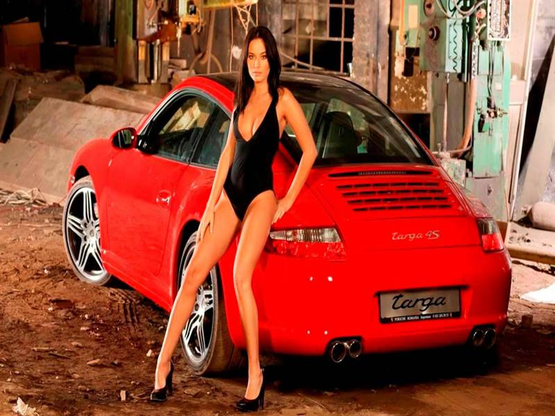 Car with Beautiful Girl Image
