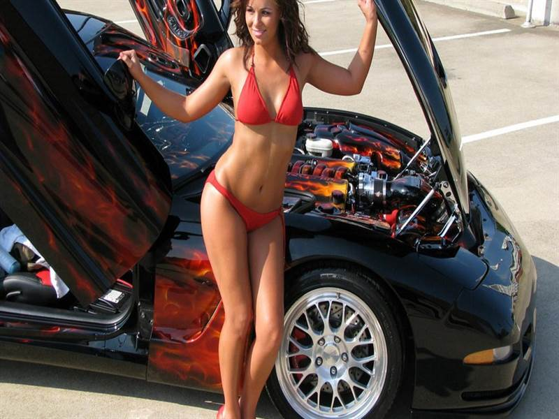 Car with babe image