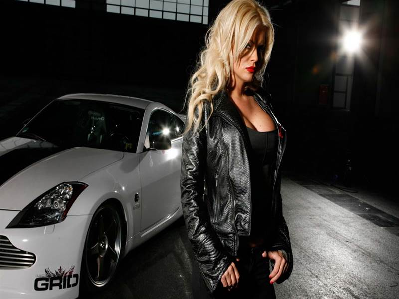 Beautiful Model with Hot Car Photo