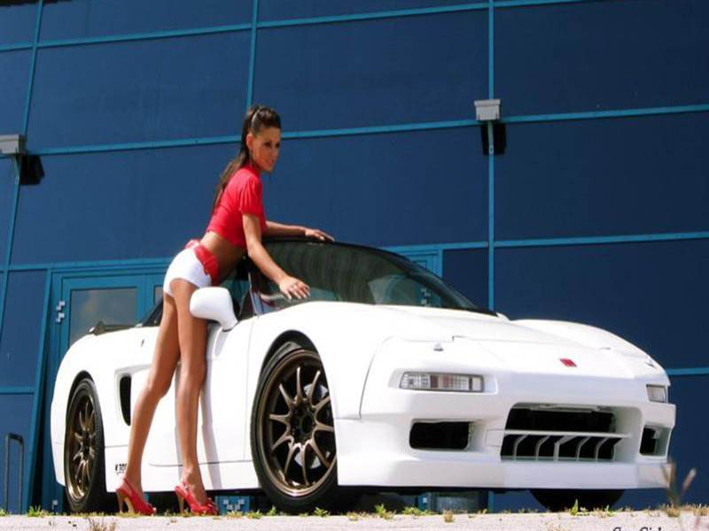 Super Sport Car with hot girl