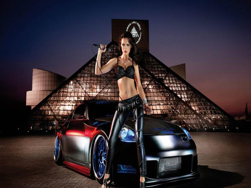 Exotic Car with Beautiful Girl Collection