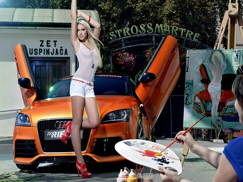 Audi With Hot Model