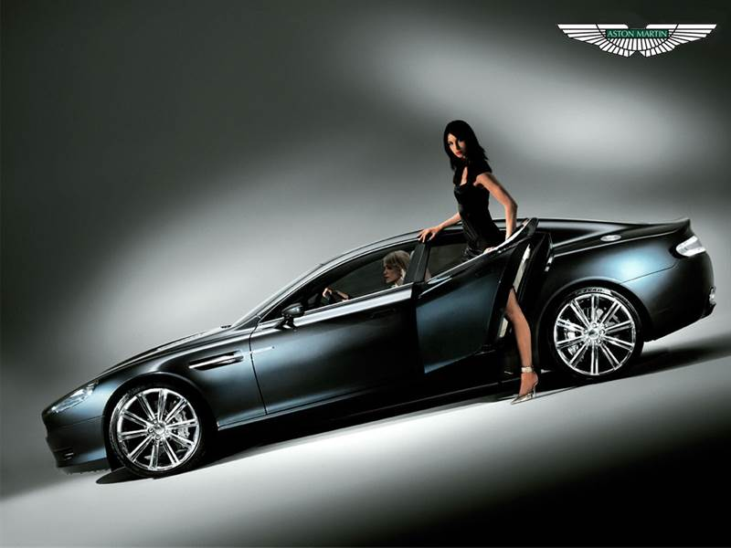 HD Photo of Aston Martin with Hot Model